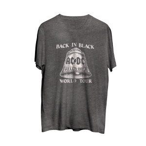 AC/DC Back In Black World Tour Grey T-Shirt