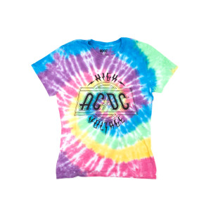 AC/DC High Voltage Logo Tie-Dye Juniors T-Shirt