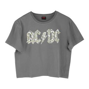 AC/DC Flower Band Logo Kids T-Shirt