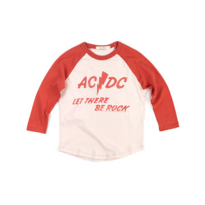 AC/DC Let There Be Rock Kids Red/Cream Raglan