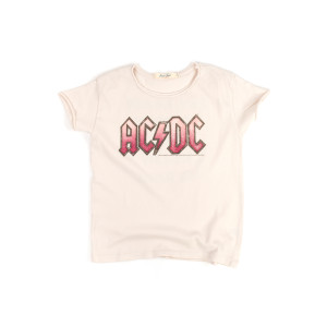 AC/DC Get Ready to Rock, Get Ready to Roll Kids Cream T-Shirt