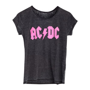 AC/DC Ladies Pink Logo T-Shirt