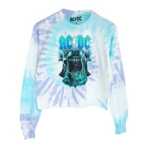 AC/DC Long Sleeve Blue Tie-Dye T-shirt