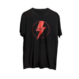 AC/DC - Red Lightning Bolt Black T-shirt