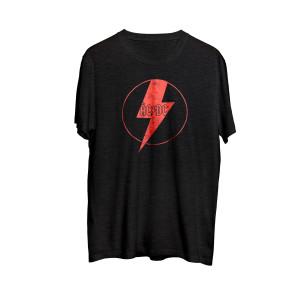 AC/DC - Red Lightning Bolt Black T-shirt