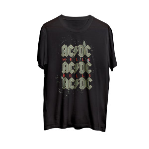 AC/DC - Hells Bells Black Splatter T-shirt