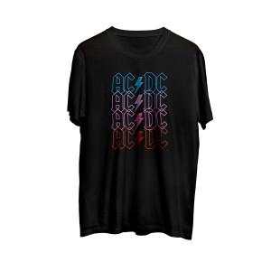 AC/DC Multicolor Logo Lightning Bolt Black T-Shirt