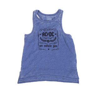 AC/DC We Salute You Heather Blue Tank Top