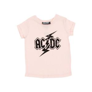 AC/DC - Kids Black Lightning Logo Pink Shirt