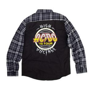 AC/DC High Voltage Logo Grey Flannel