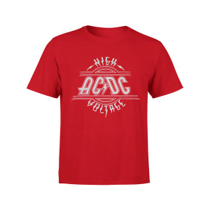 AC/DC Kids High Voltage Silver Logo Red T-Shirt