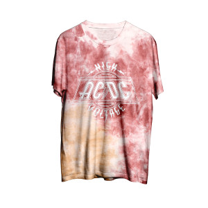 AC/DC High Voltage Tie Dye T-shirt