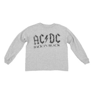 AC/DC Kids Long Sleeve Back In Black T-shirt