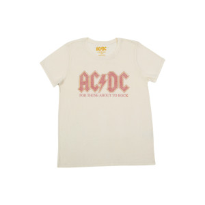 AC/DC For Those About To Rock Faded Logo Natural T-Shirt