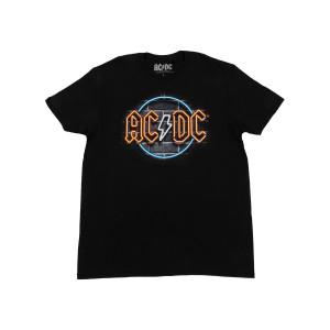 AC/DC Neon Sign Logo Black T-Shirt