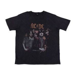 AC/DC Acid Wash Faded Photo T-shirt
