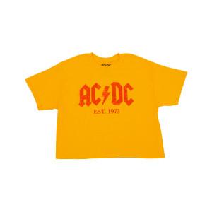 AC/DC Est 1973 Gold Ladies Crop Top