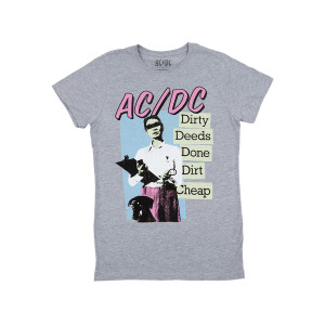 AC/DC Dirty Deeds Done Dirt Cheap Women's Crew T-shirt