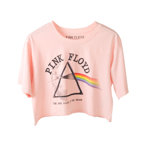 c5cf8a31a7111d Pink Floyd Dark Side of the Moon with Moon Prism Pink Crop Top ...