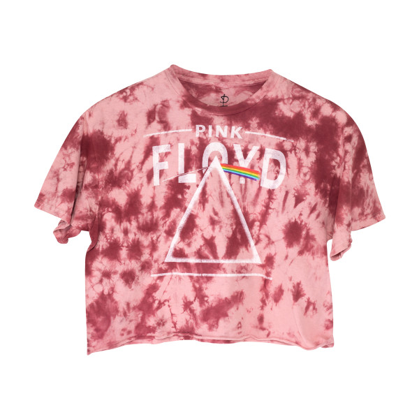 f96c8bf6b330a3 Pink Floyd The Dark Side of the Moon Pink Crop Top
