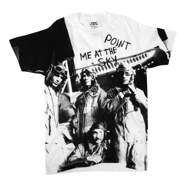 Point Me At The Sky White Photo T Shirt Shop The Pink Floyd