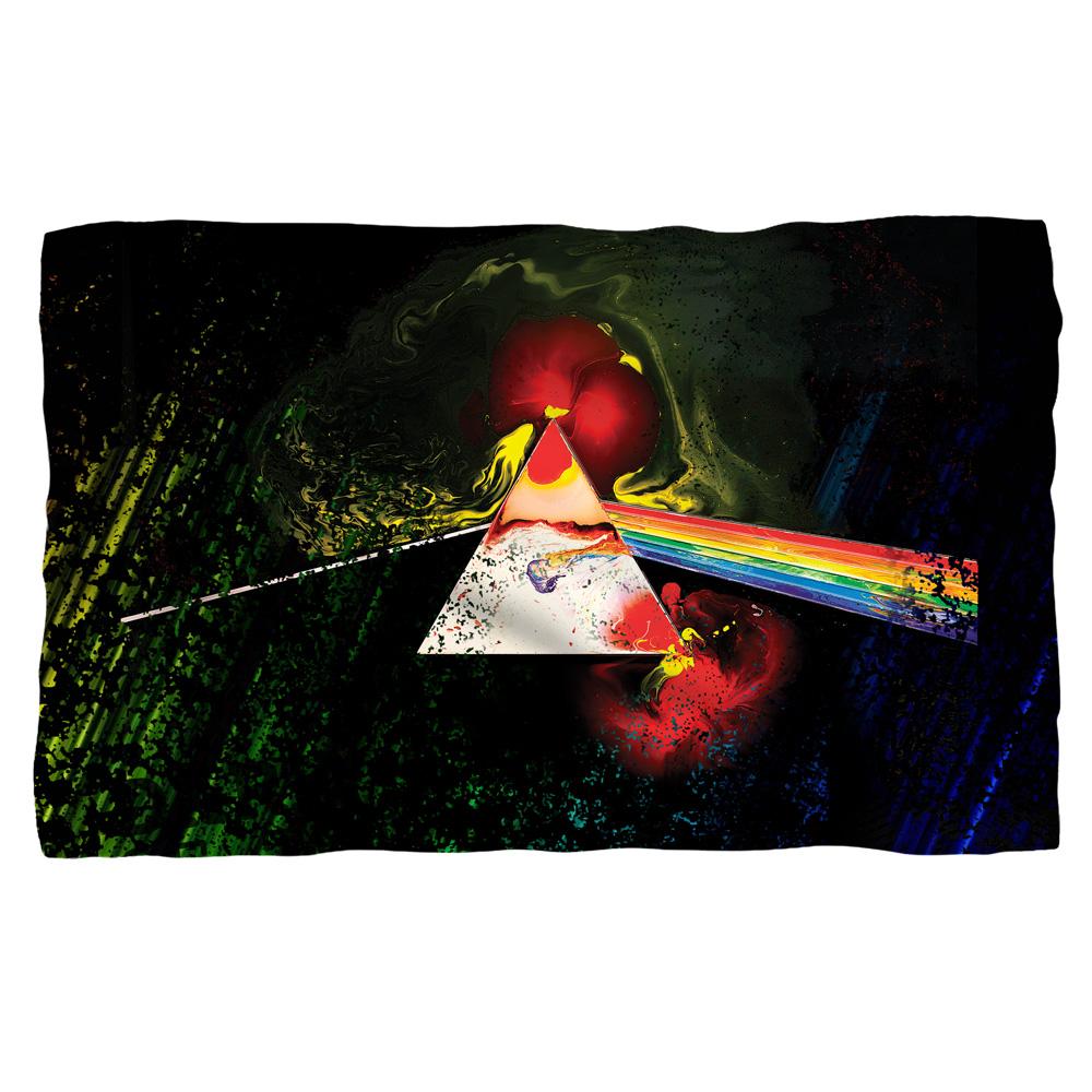 Pink Floyd/Dark Side Of The Moon-Fleece Blanket-White-[36 X 58]