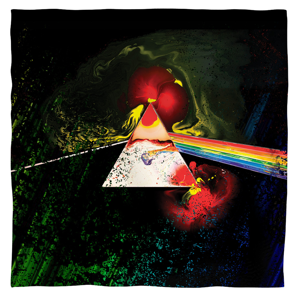 Pink Floyd/Dark Side Of The Moon-Bandana-White-[22 X 22]
