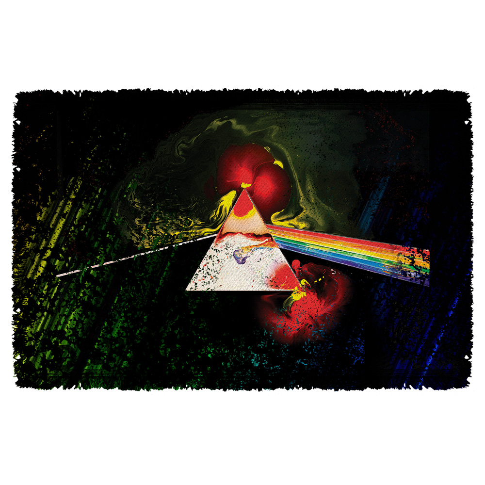 Pink Floyd/Dark Side Of The Moon-Woven Throw-White-[36 X 58]