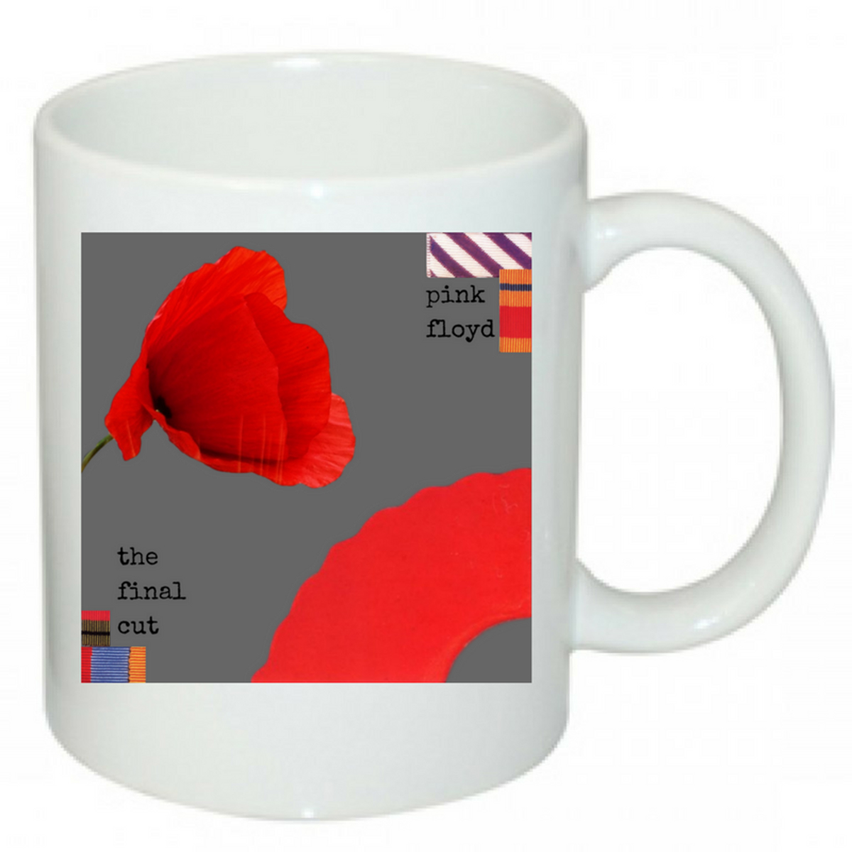 Charcoal Present Poppy Mug