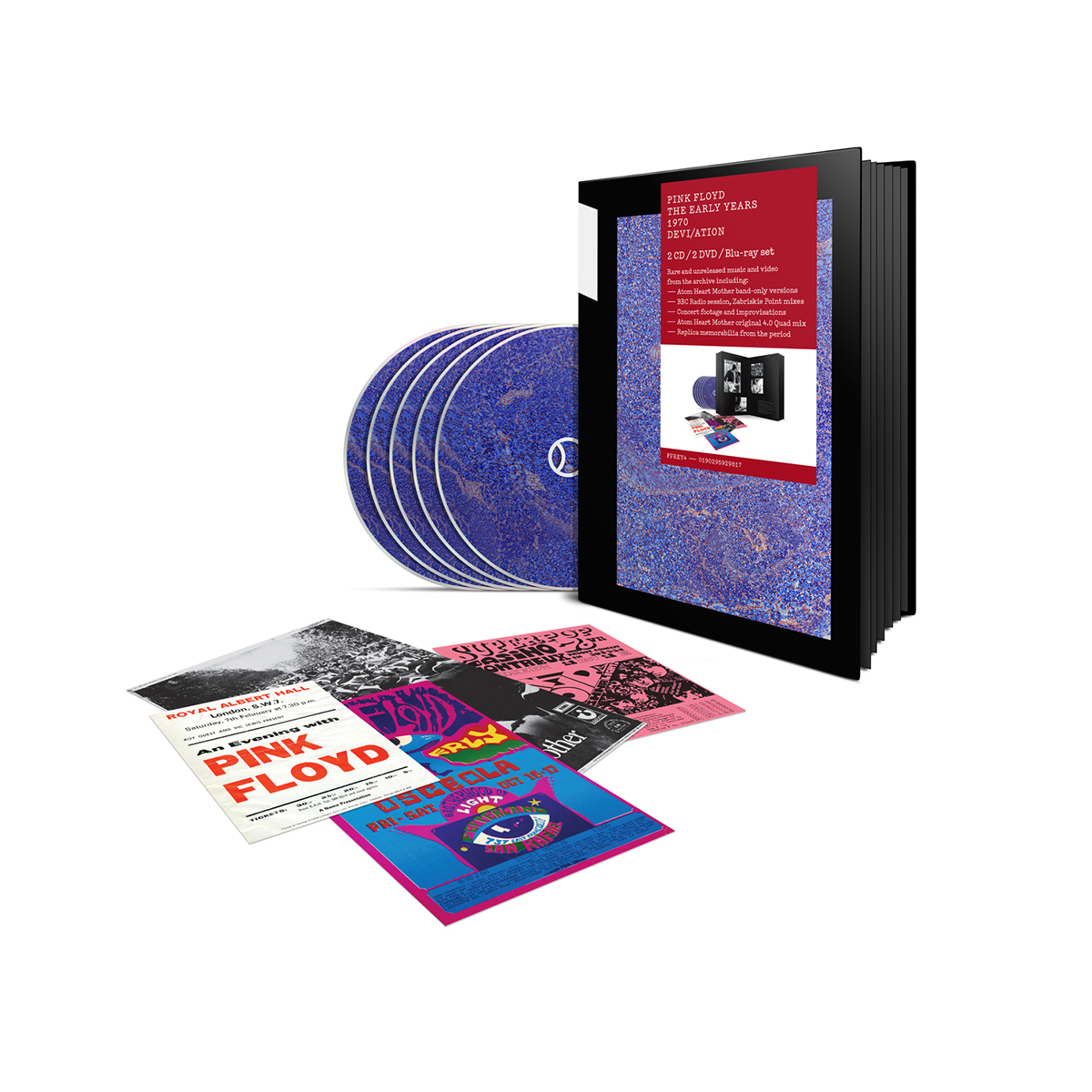 Pink Floyd Pink Floyd The Early Years 1970 Devi/Ation   2 Cd / 2 Dvd / Blu-Ray Set
