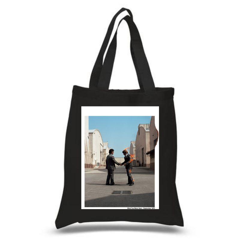 Wish You Were Here Black Tote Bag