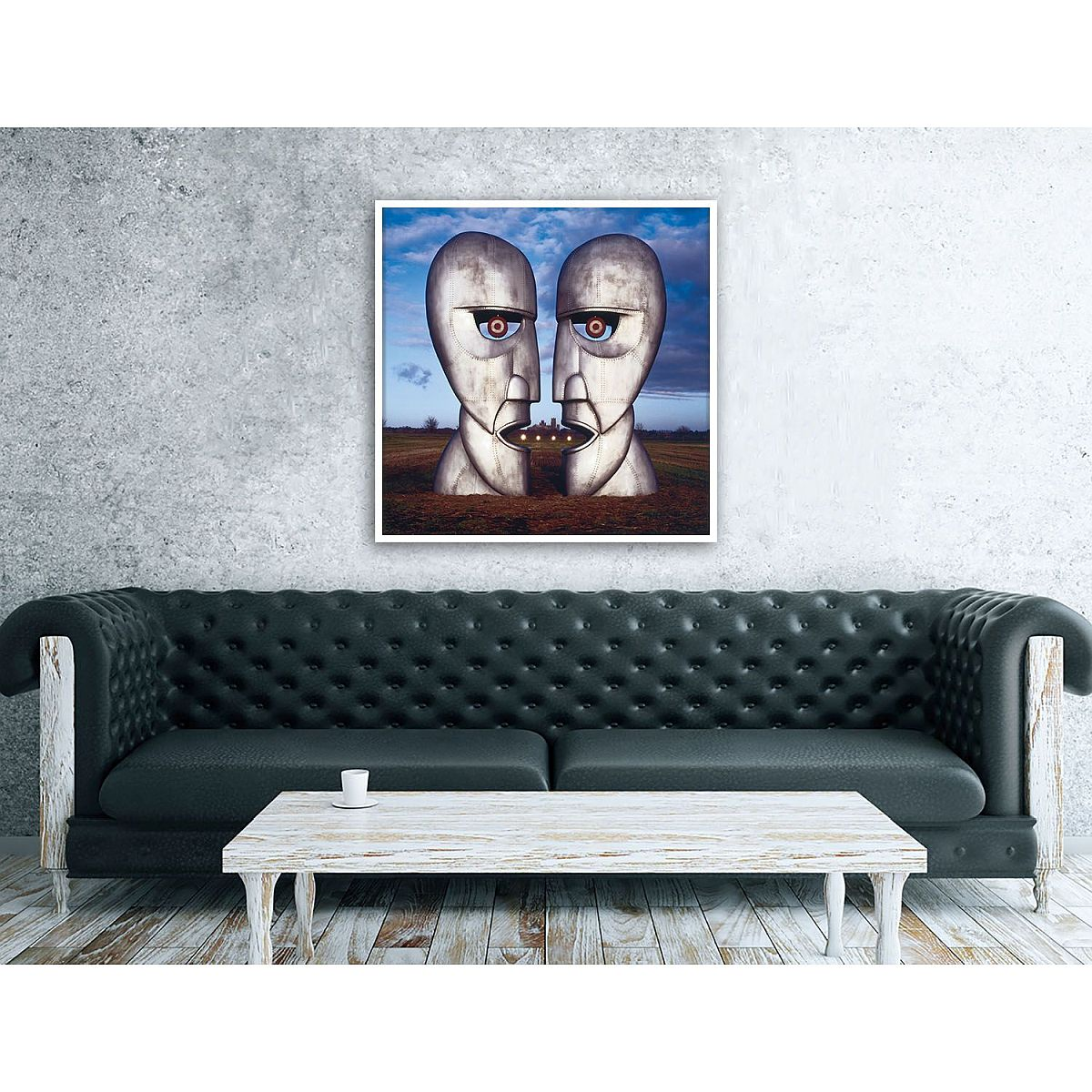 Division Bell - Metal Heads Canvas Wall Art