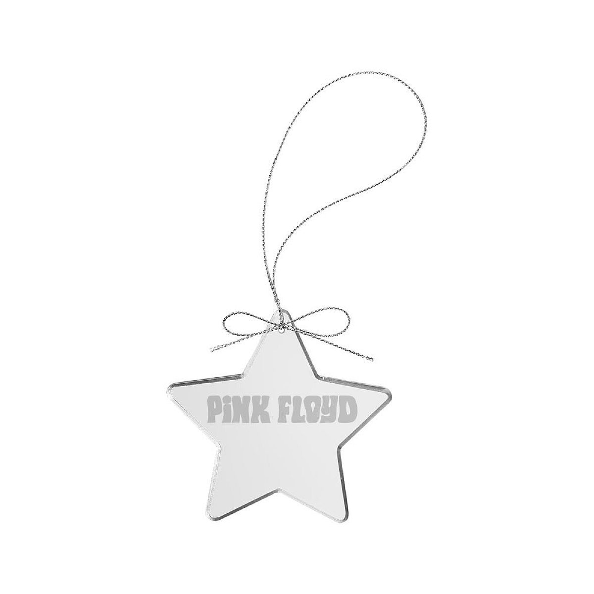 Piper Logo Star Laser-Etched Glass Ornament