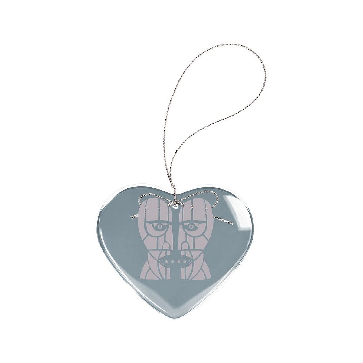 Stoneheads Heart Laser-Etched Glass Ornament