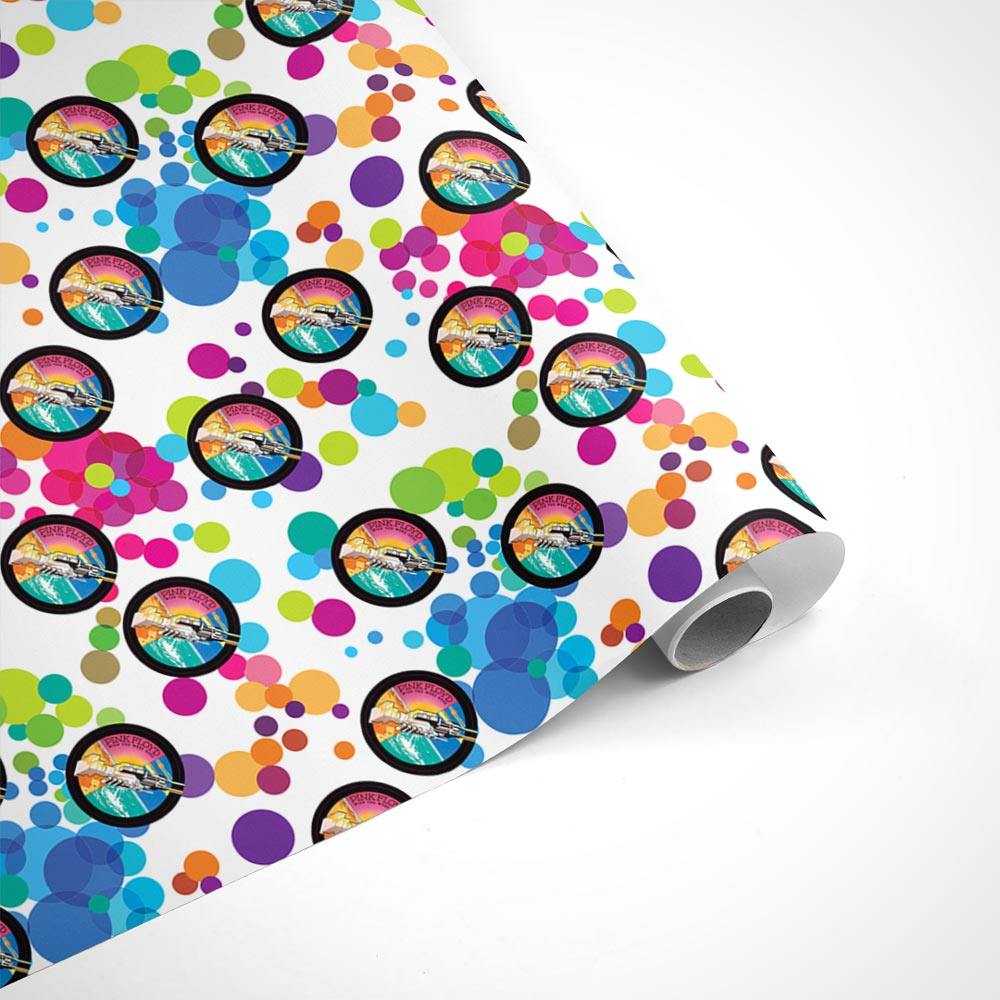 Pink Floyd Wish You Were Here Circle Wrapping Paper
