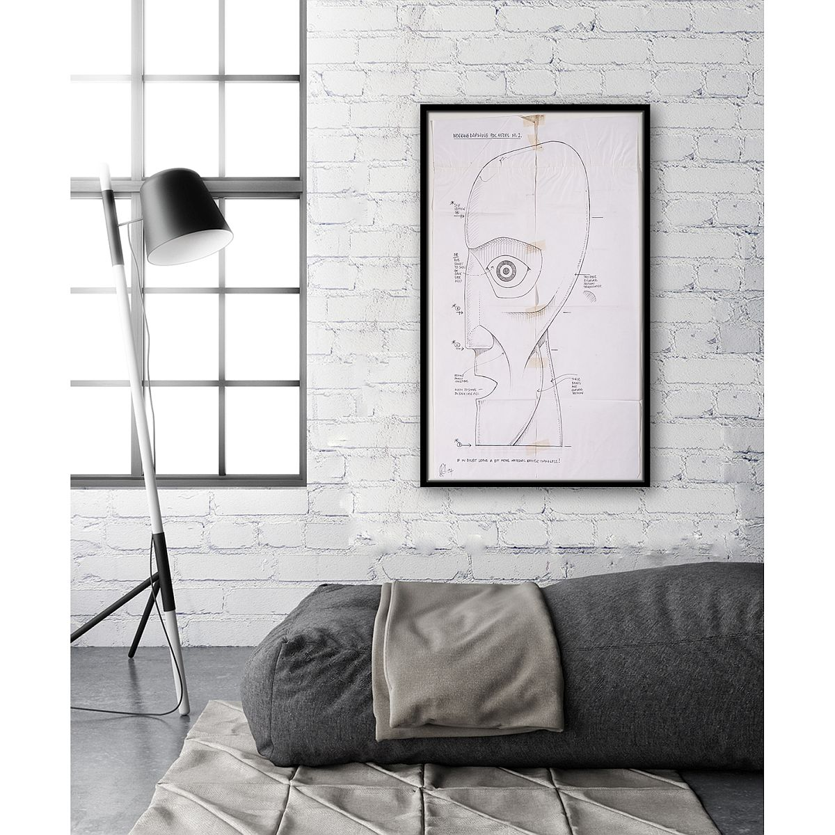Division Bell Schematic Wall Art