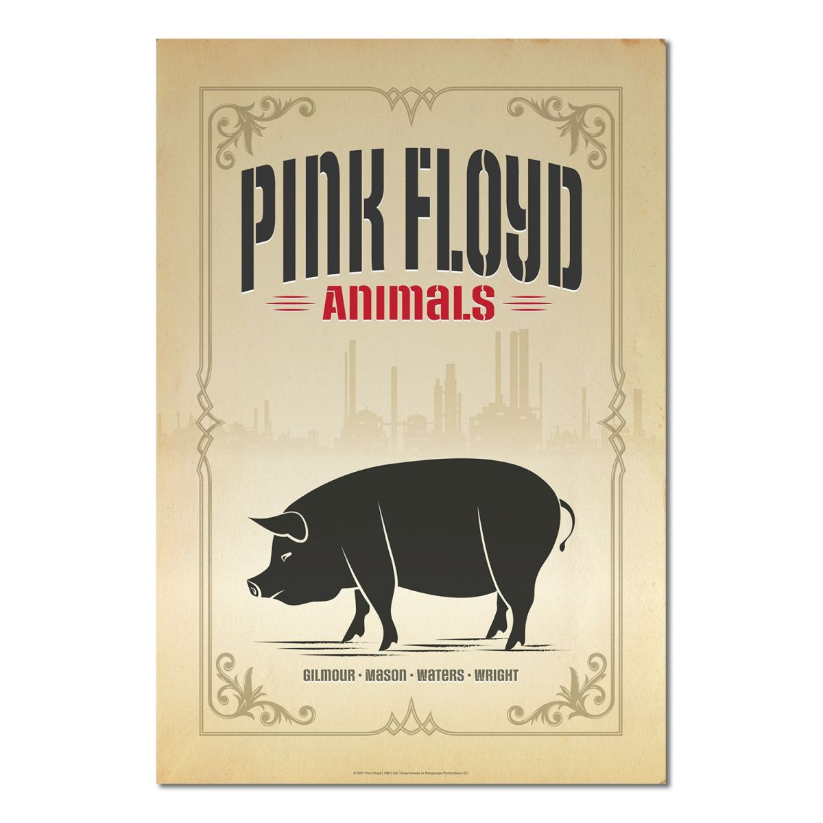 Pink Floyd Animals Pig Print