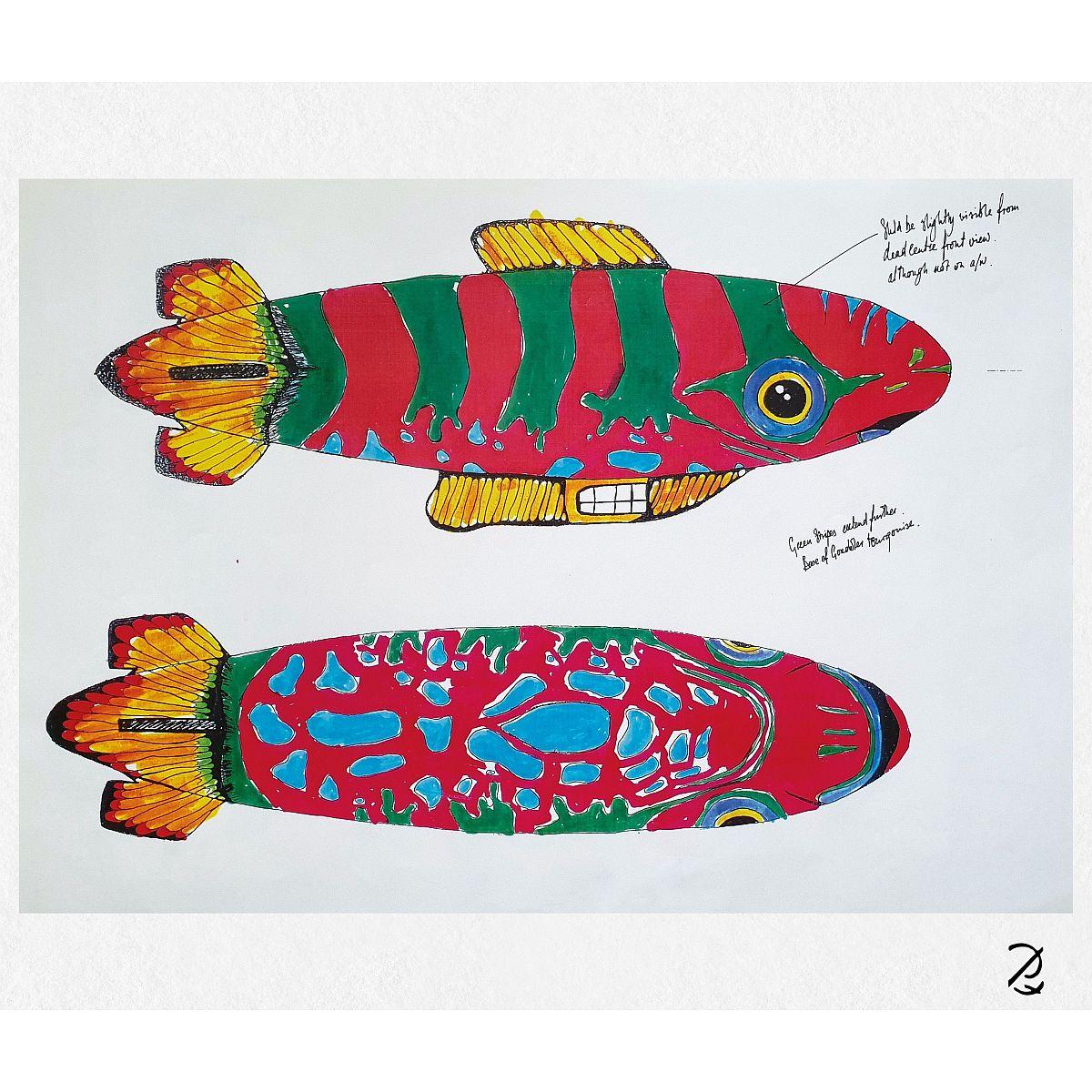 Blimp Drawing Fine Art Print