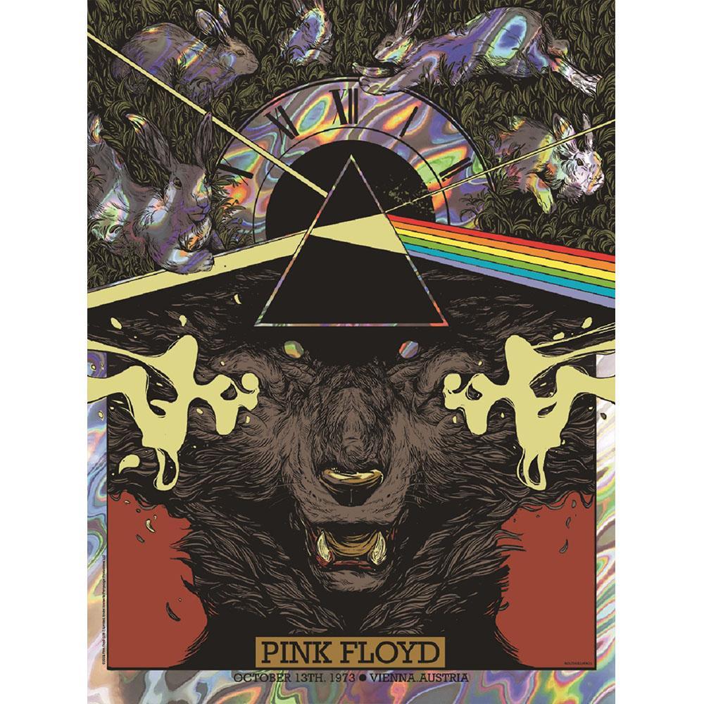 Pink Floyd Vienna 1973 Concert Lava Foil Variant Poster