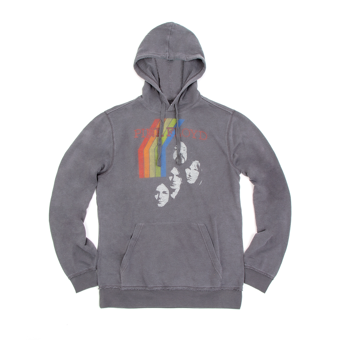 Pink Floyd Charcoal Rainbow Faces Hoodie