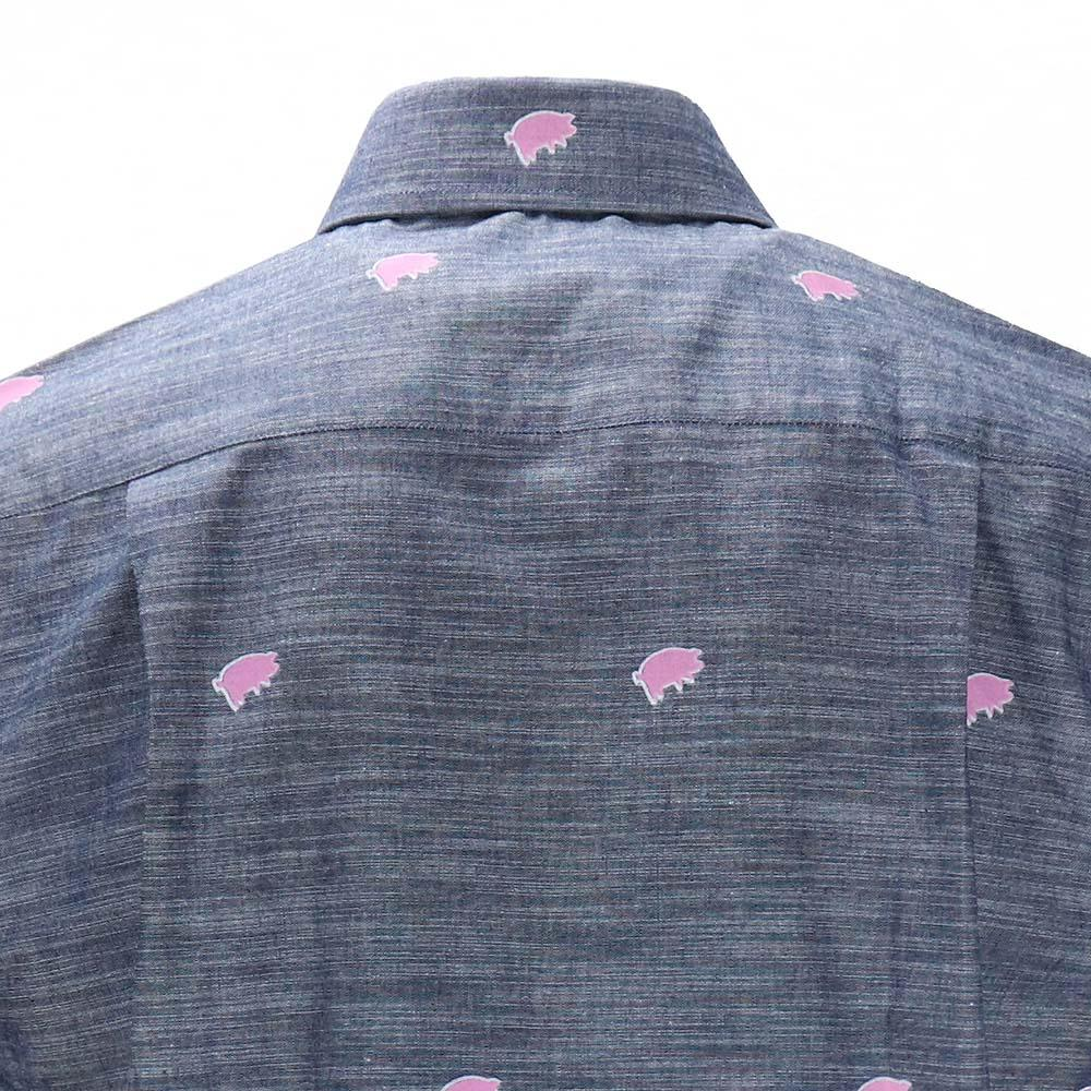Pink Floyd Pigs Short Sleeve Button-Down Shirt