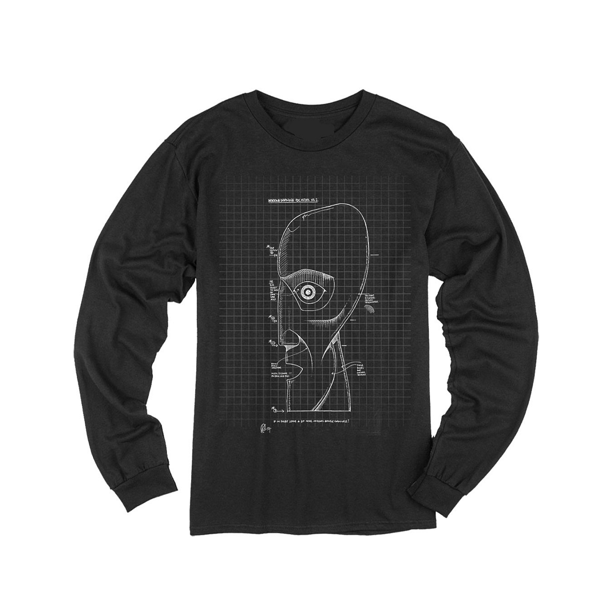 The Later Years Schematics Black Longsleeve T-shirt