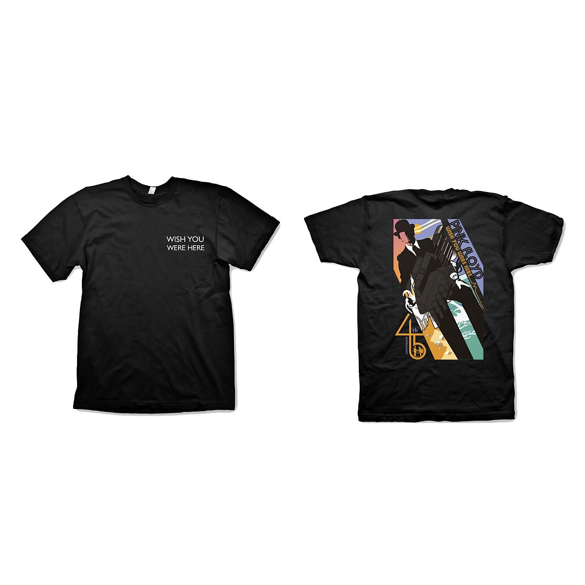 Wish You Were Here 45th Anniversary Title Print T-Shirt
