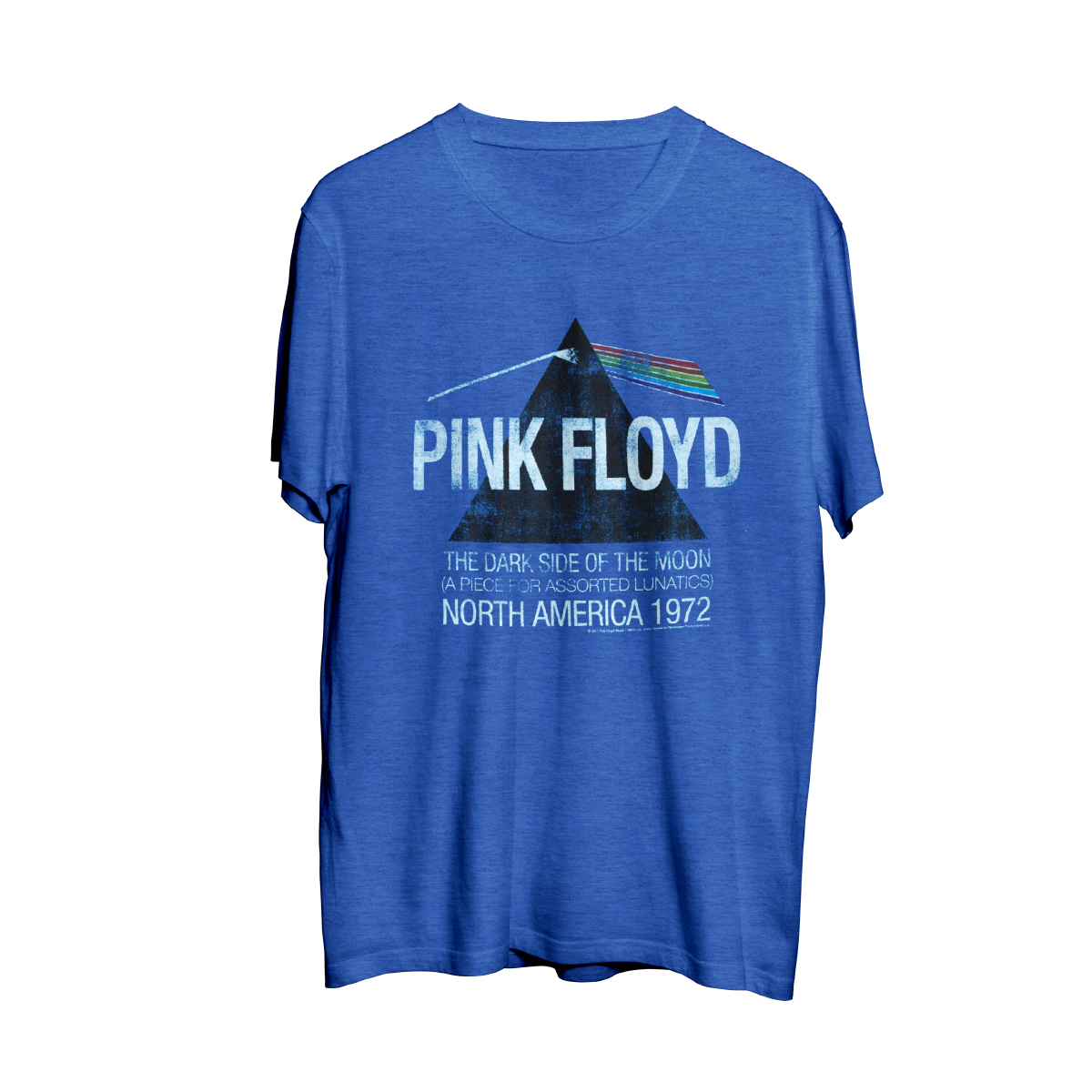 Pink Floyd North American Dark Side Tour 1972 Blue Mens T-Shirt