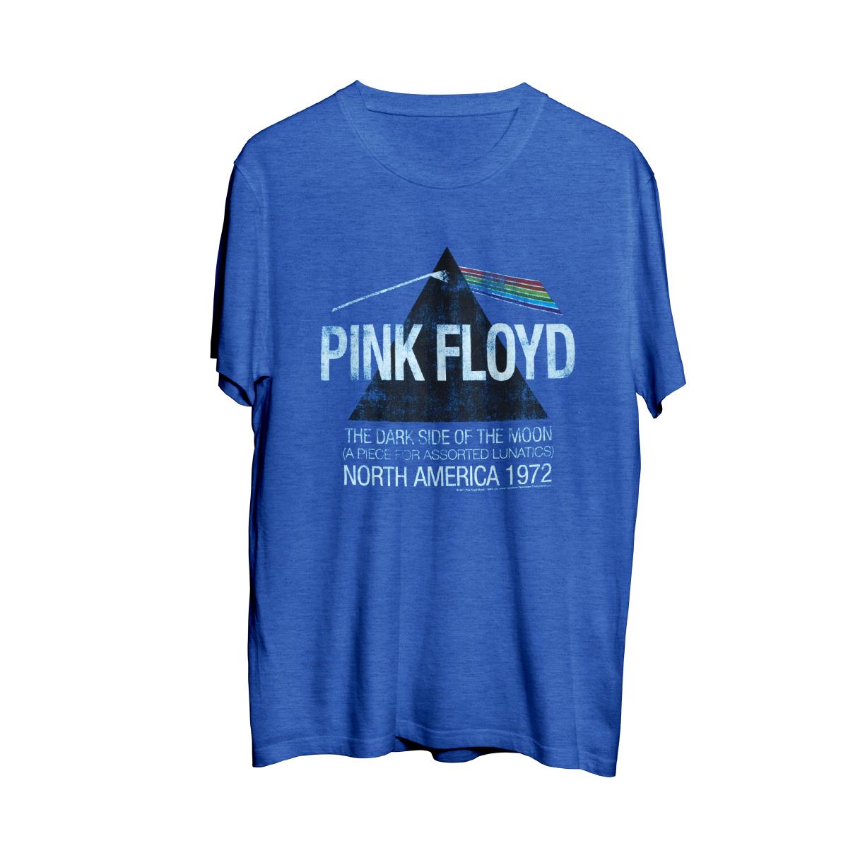 Pink Floyd North American Dark Side Tour 1972 Blue Mens T-Shirt