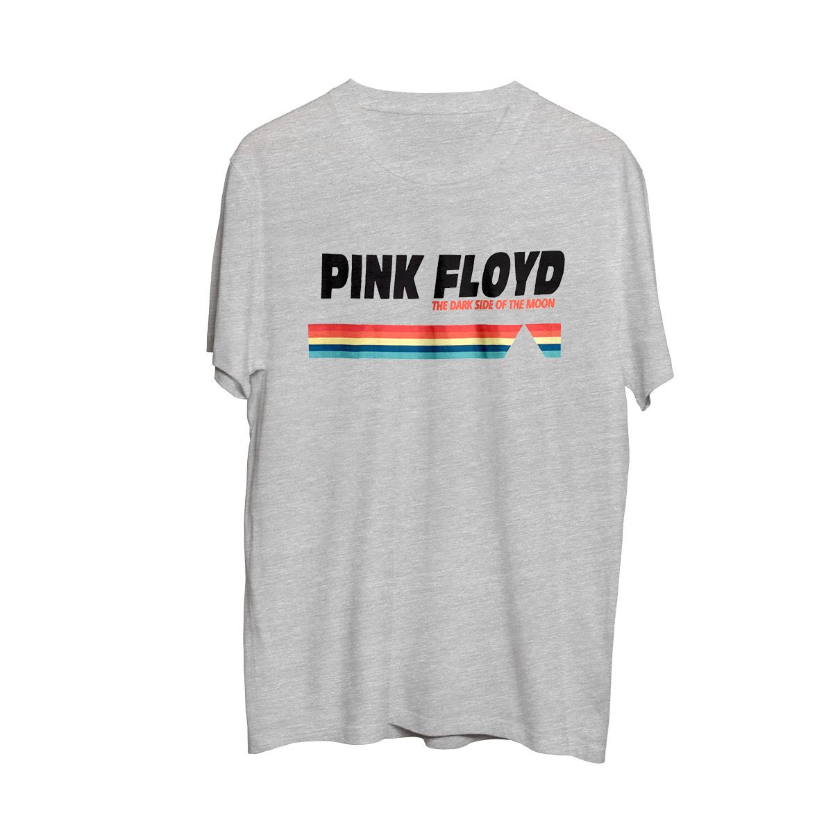 Pink Floyd Dark Side Rainbow Logo Grey T-shirt