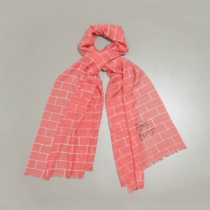 The Wall Pink Scarf