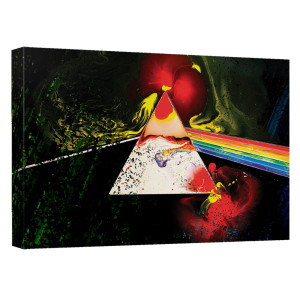Pink Floyd/Dark Side Of The Moon-Canvas Wall Art With Back Board-White-[20 X 30]