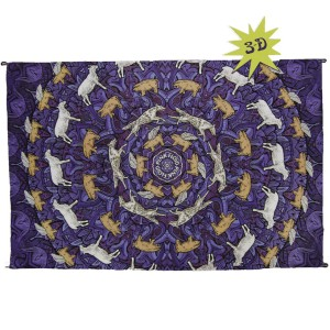 Swirling Animals 3D Tapestry