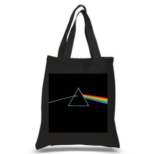 The Dark Side Of The Moon Black Tote Bag